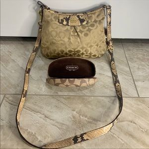 Coach crossbody bag with sunglass case (authentic)